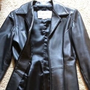 North Beach Leather Jacket with garment bag